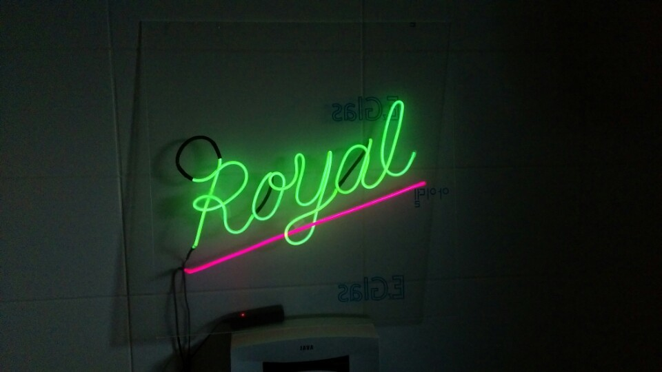 EL wire \'neon\' sign - Projects - Discourse – South London Makerspace